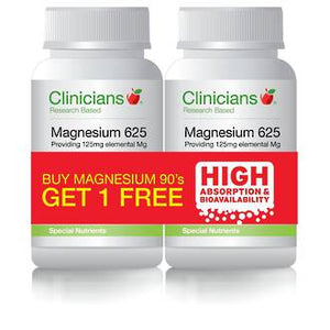 Clinicians Magnesium 625 Buy ONE - GET ONE FREE