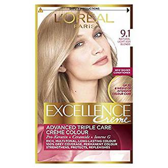 L'OREAL EXCELLENCE CREME 9.1 - LIGHT ASH BLONDE