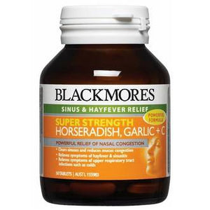 BLACKMORES SUPER HORSERADISH GARLIC + C 50 TABS