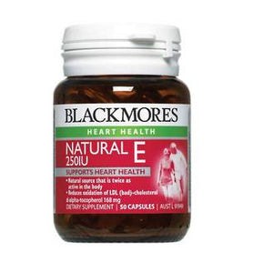 BLACKMORES NATURAL E 250IU 50 CAPSULES