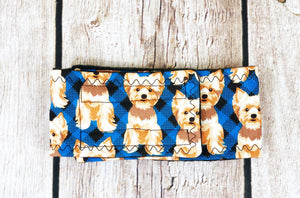 Dog Belly Band Diaper Yorkie Blue Red Marking Incontinence  Washable Reusable Waterproof Wrap Nappies Waist Band The Dog Belly Band
