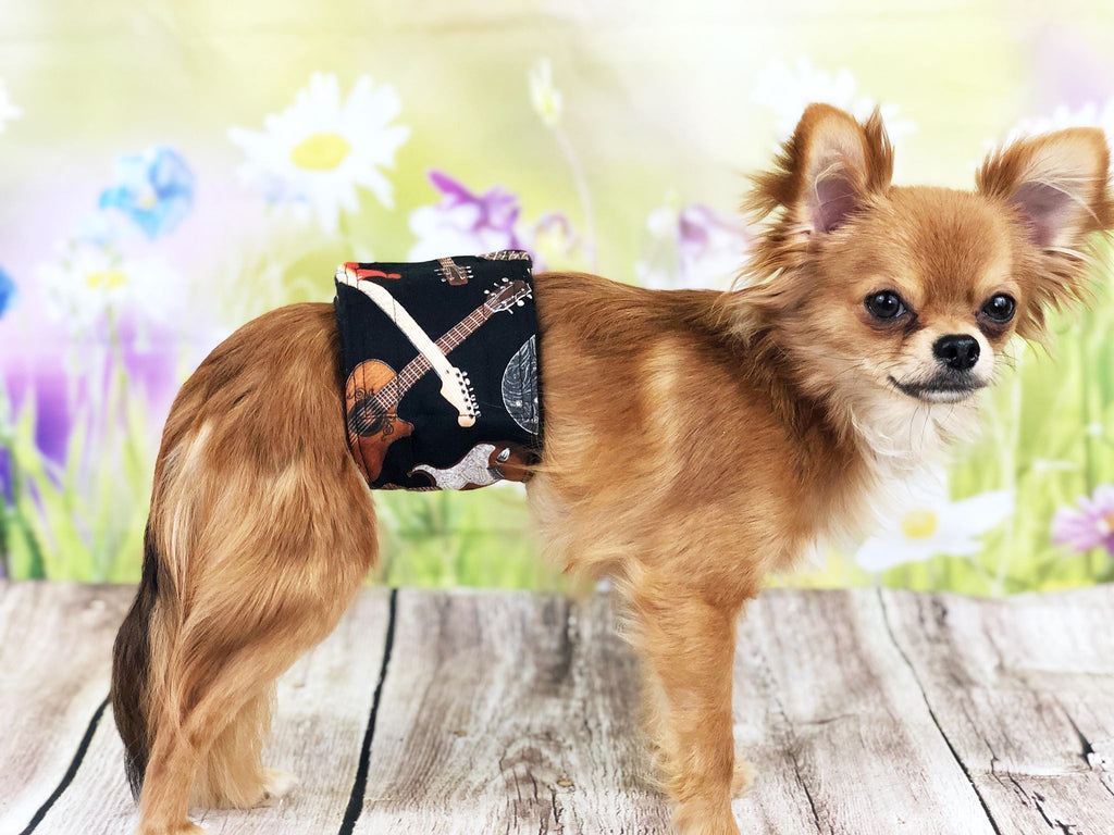 Dog Belly Band Diaper Guitar  Marking Incontinence  Washable Reusable Waterproof