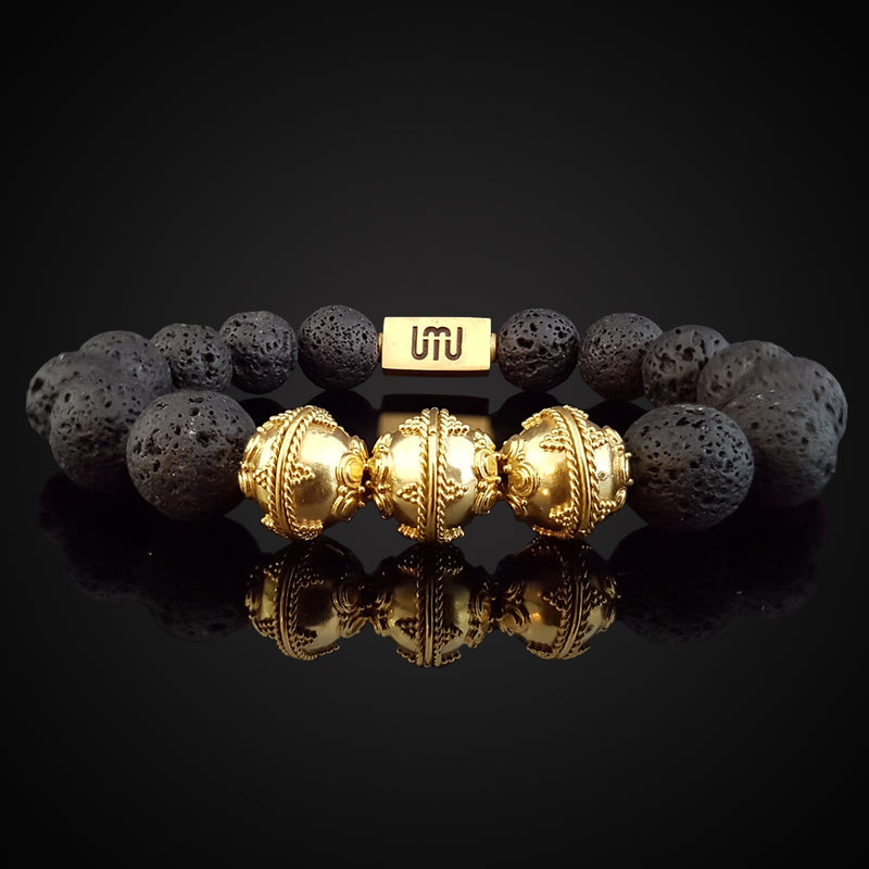 Hematite & Gold Elite Men's Bracelet