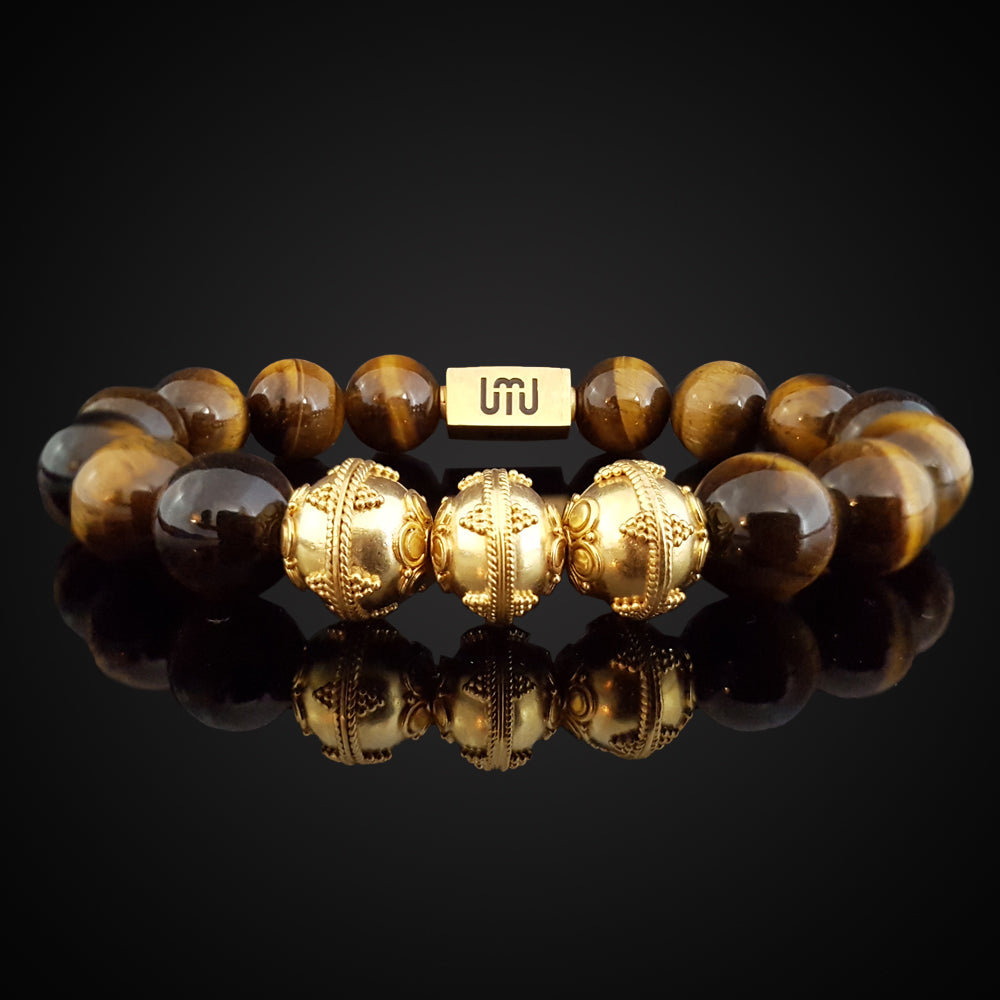 Tiger Eye & Gold Bracelet-Adrian Jade