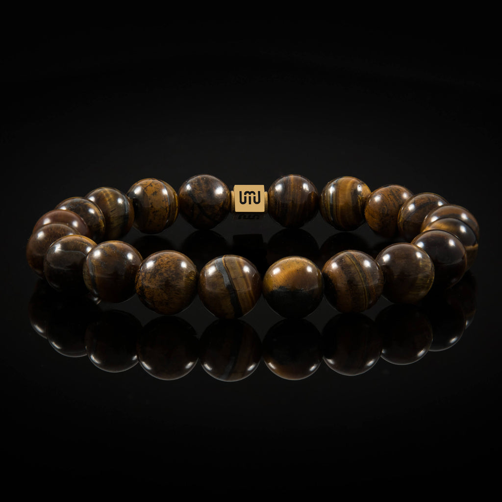 Tiger's Eye & Gold Bracelet-Adrian Jade