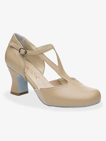 Capezio Y-Strap Charlotte Leather Character Shoe
