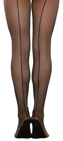 Professional Fishnet Tight with Back Seam