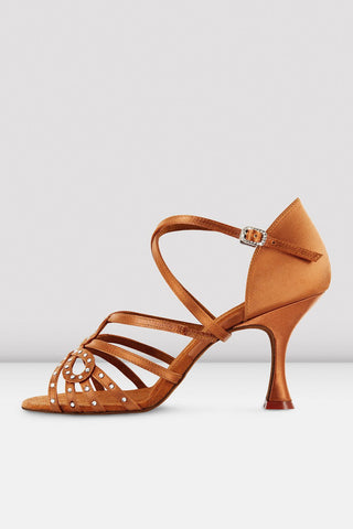 Looped Strap Satin Ballroom Shoe