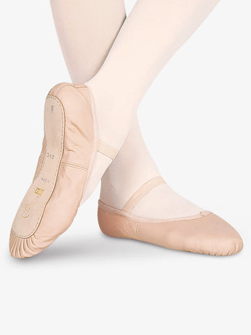 Child's Bloch Dansoft Full Sole Pink Leather Ballet Shoe S0205G