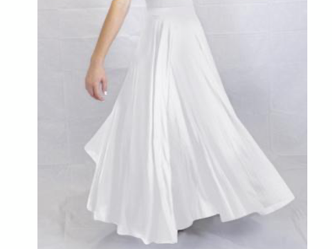 Adult liturgical 540-degree skirt with elastic waist