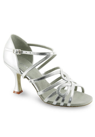 Silver Salsa or Latin Ballroom Shoe