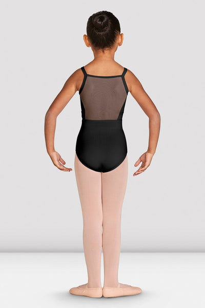 Girls Mesh Back Camisole Leotard