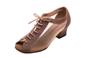 Tan Lace-up Bootie Practice Shoe
