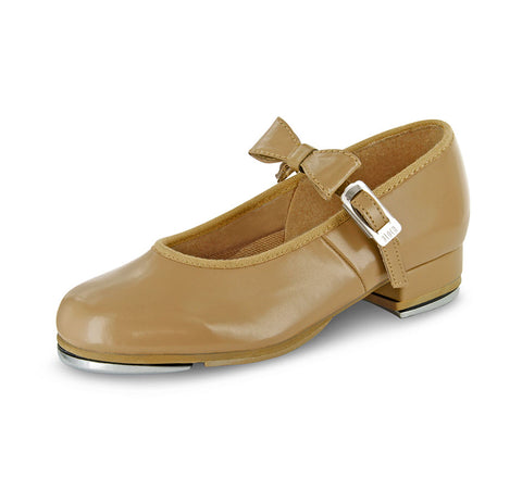 Girl's Merry Jane Tap Shoe Black or Bloch Tan