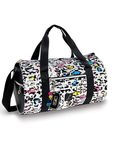Techno Neon Cheetah Duffel