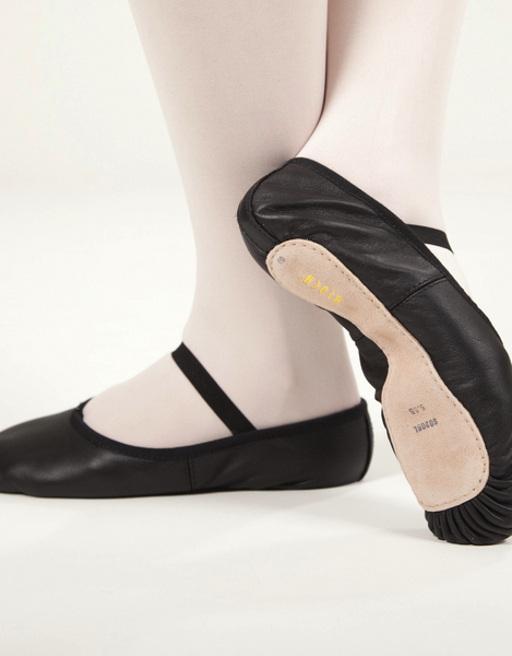 Adult Bloch Dansoft Full Sole Black Leather Ballet Shoe