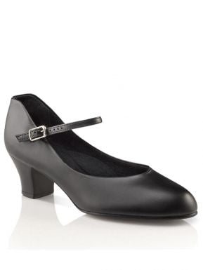 "Capezio 1.5"" Jr. Footlight Character Shoe Available in Black & Caramel"
