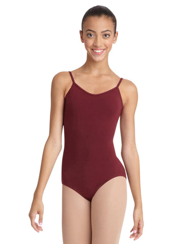 V-Neck Cami Leotard with Criss-Cross Lower Back