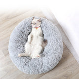 Soft Dog Bed Pet Kennel Round Sleeping Bag Lounger Cat House Winter Warm Sofa Basket for Small Medium Large Dog