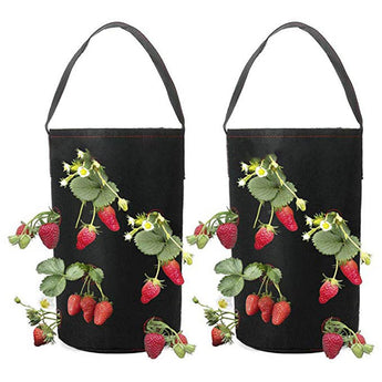 Garden Supplies Felt Planting Bag Hanging Strawberry Planting Nonwoven Bare Root Container Flower Seedling Flower Pots Planters