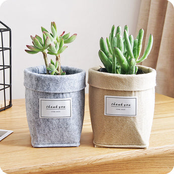 High Quality Fashion Plant Grow Bag New Home Decorations Desktop Flower Basket Fleshy Pot Thicken Garden Pot Garden Supplies