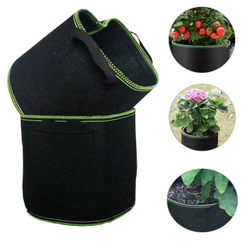 Fabric Grow Bags Breathable Pots Planter Root Pouch Container Plant Smart Pots with Handles Garden Supplies