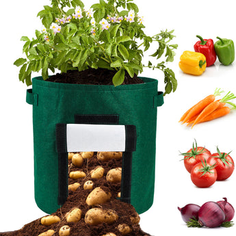 DIY Potato Grow Planter PE Cloth Tomato Planting Container Bag  Plant Grow Bag Thicken Garden Pot Garden Supplies