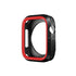 Armour Protective Bumper Case Cover for Apple Watch 42mm Series 1/2/3-Black & Red