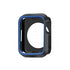 Armour Protective Bumper Case Cover for Apple Watch SE 44mm,Series 6/5/4-Black & Blue