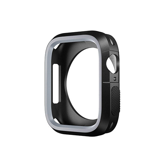 Armour Protective Bumper Case Cover for Apple Watch SE 40mm ,Series 6/5/4-Black & Grey