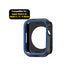 Armour Protective Bumper Case Cover for Apple Watch 42mm Series 1/2/3-Black & Blue