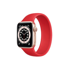 Load image into Gallery viewer, Solo Loop Elastic Silicone Strap for Apple Watch 38/40mm-Red (Small)