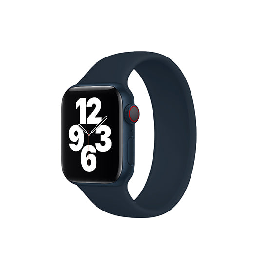 Solo Loop Elastic Silicone Strap for Apple Watch 38/40mm-Midnight Blue (Small)