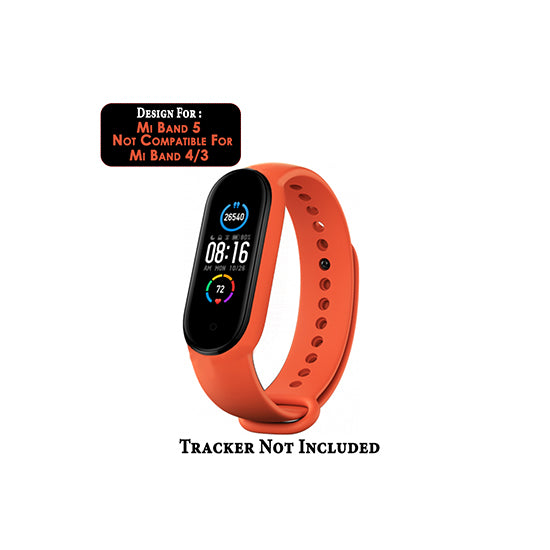 Silicone Wristband For MI Band 5-Orange