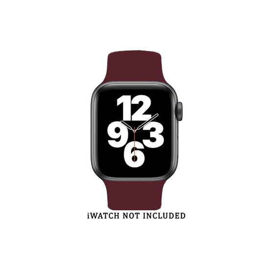 Solo Loop Elastic Silicone Strap for Apple Watch 38/40mm-Wine (Large)
