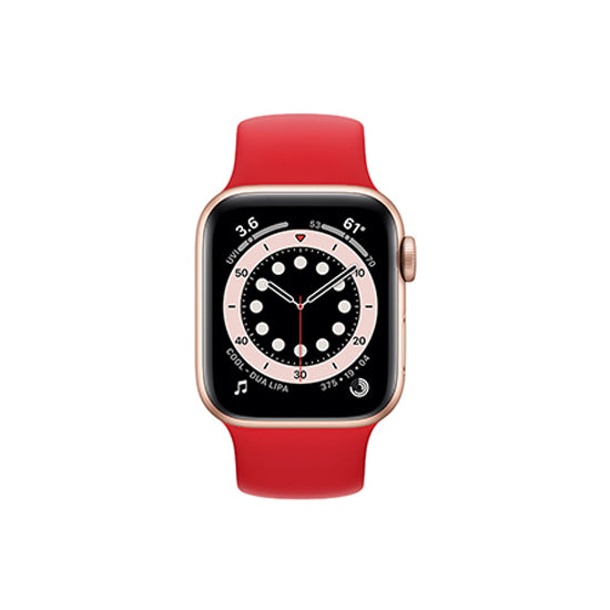 Solo Loop Elastic Silicone Strap for Apple Watch 42/44mm-Red(Small)