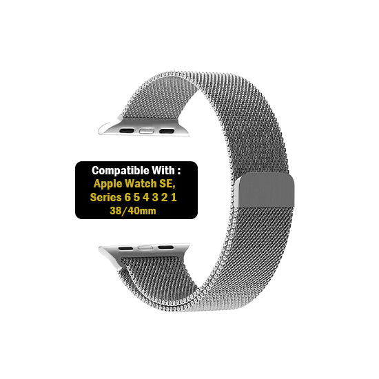 Milanese Loop Strap for iWatch 42-44mm Silver