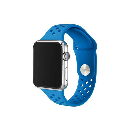 Dotted Silicone Strap for iWatch 42-44mm Blue