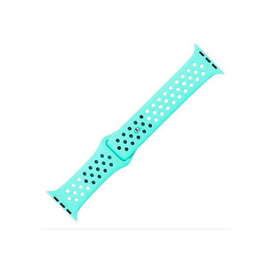 Dotted Silicone Strap for iWatch 42-44mm Mint Green