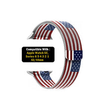 Load image into Gallery viewer, Milanese Loop Strap for iWatch 42-44mm USA Flag