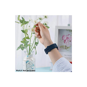 Silicone Wristband Strap For Fitbit Sense/Versa 3-Midnight Blue