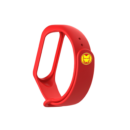 Silicone Wristband for Mi Band 4/ Mi Band 3 (Red-Ironman Edition)