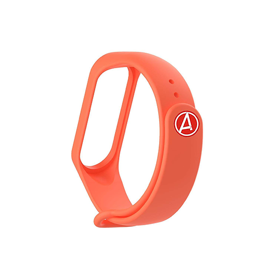 Silicone Wristband for Mi Band 4/ Mi Band 3 (Orange-Avengers Edition)
