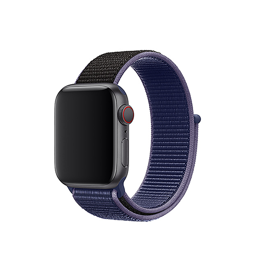 Woven Nylon Strap For Apple Watch-Midnight Blue (38/40mm)