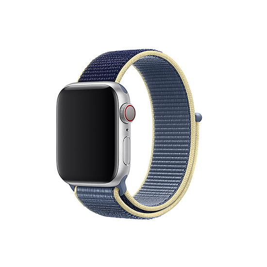Woven Nylon Strap For Apple Watch-Alaskan Blue (42/44mm)