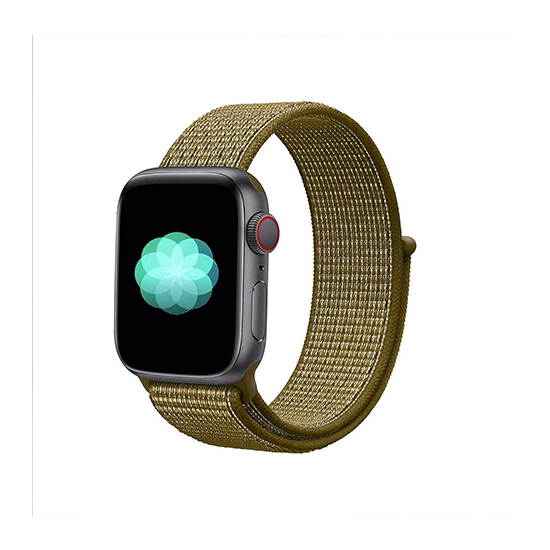 Woven Nylon Strap For Apple Watch-Olive Flak (38/40mm)