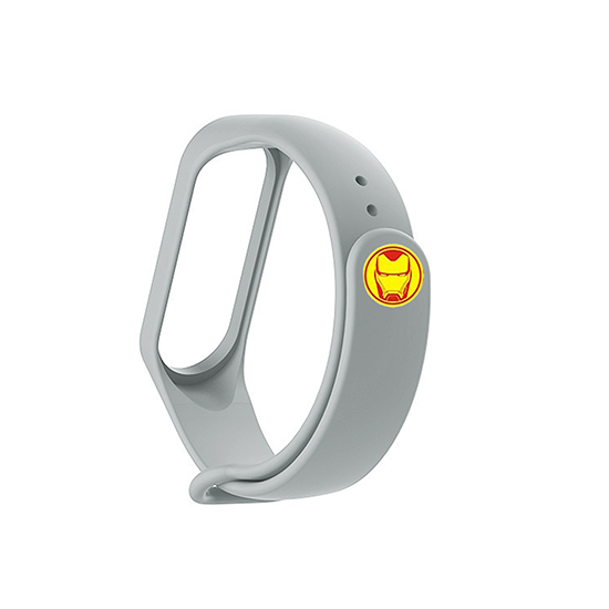 Silicone Wristband for Mi Band 4/ Mi Band 3 (Grey-Ironman Edition)