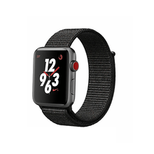 Load image into Gallery viewer, Woven Nylon Strap For Apple Watch-Black(38/40mm) - CellFAther