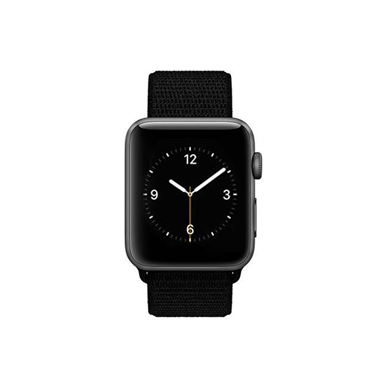 Woven Nylon Strap For Apple Watch-Jet Black (42/44mm) - CellFAther