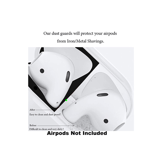 Anti-Scratch Dust Guard for AirPods 1 Case (Black-Set) - CellFAther